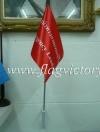 ธงนำทางหนีไฟ สีแดง 30 x 45 cm