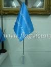 ธงนำทางหนีไฟ สีฟ้า 30 x 45 cm