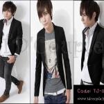 พร้อมส่ง เสื้อสูทแฟชั่นเกาหลี สีดำเข้ารูปทรงสวย #Size L
