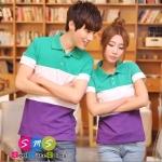 เสื้อคู่ เสื้อคู่รัก ชุดคู่รัก เสื้อโปโลคู่รัก สีลูกกวาดสดใส ใส่เป็นคู่ดูหวานสดใสมากค่
