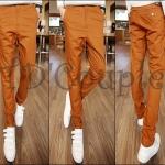 PRE-ORDER กางเกงขายาวแฟชั่นใหม่ กางเกงผ้าแฟชั่นเกาหลีบางสีน้ำตาลอ่อนขายาว เนื้อผ้าฝ้ายสวมใส่สบาย
